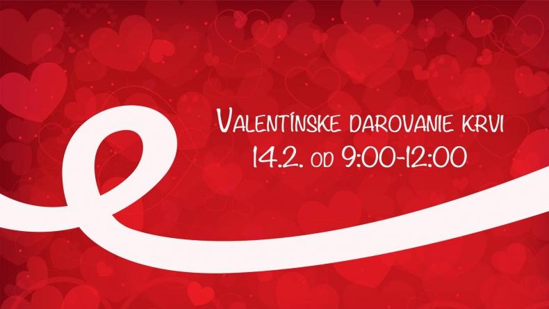Valentínske darovanie krvi